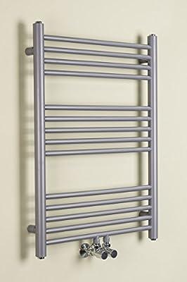 Handtuchheizkörper Badheizkörper Handtuchwärmer 800x600mm Silber von Warmehaus auf Heizstrahler Onlineshop