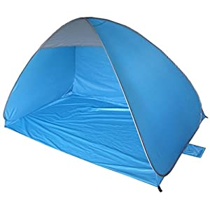 41PZUj40xRL. SS300  - KandyToys Pop Up Beach Shelter Tent | 2-3 Person Automatic Sun Protection | 200 x 120cm