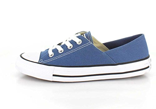 Converse Womens Chuck Taylor Coral Ox Canvas Trainers Blue Coast/White/Black