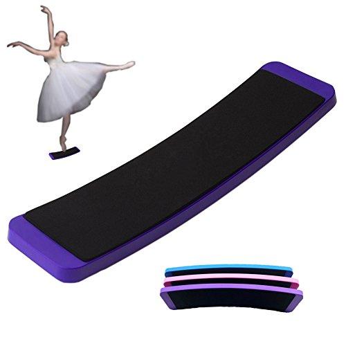 ueasy Ballett Drehen Board und Eiskunstlauf–PREMIUM Training Tool für Dance verwandelt Praxis im Kreis und Balance, Herren Kinder damen, violett Ballett Drehen
