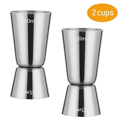 Sunerly acero inoxidable 25/50ml vaso medidor cócteles