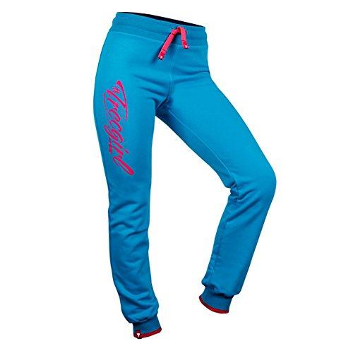 Mammoth Wear Pantalon trecgirl 002pour femme sport Formation pantalon pour femme Coupe longue Active fille Vêtements bleu mer