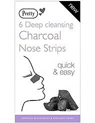 Pretty Holzkohle Nase Streifen - Tiefenreinigung - Entfernt Mitesser & Unclogs Poren - Schnelle & Einfach