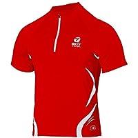 ACT SEVEN Cooldry-Dryntex - Camiseta, Cooldry-Dryntex, Rojo/Blanco, XS