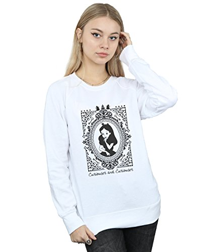 Disney Damen Alice In Wonderland Frame Sweatshirt Large Weiß (Disney Sweatshirt Damen In)