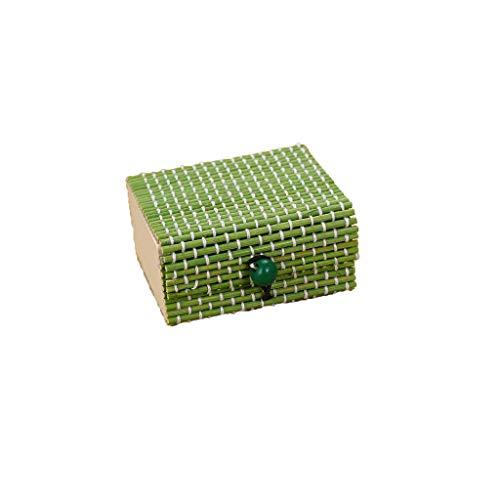 Schmuckkasten,Rifuli® Bambus Holz Schmuck Organizer Aufbewahrungsbox Strap Craft Square Fall Schmuckkästen Küche Haushalt Wohnen Möbel