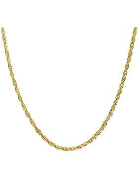 Latotsa 14 Karat 585 Gelbgold Gold Ankerkette Kette Halskette Anker Goldkette gedreht Schmuck