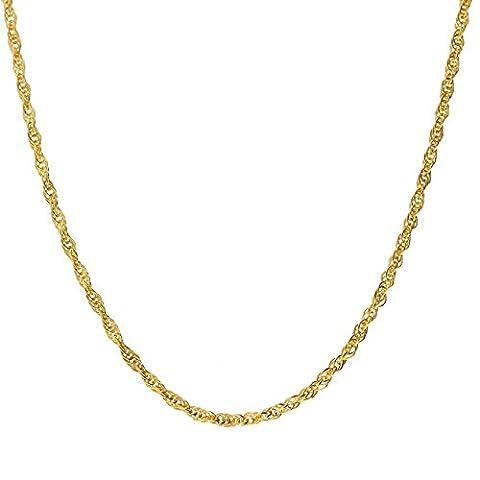 Latotsa 14 Karat 585 Gelbgold Gold Ankerkette Kette Halskette Anker