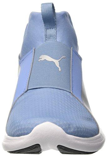 Puma Rebel Mid Wns, Baskets Basses Pour Femmes Bleu (allure-puma Argent)