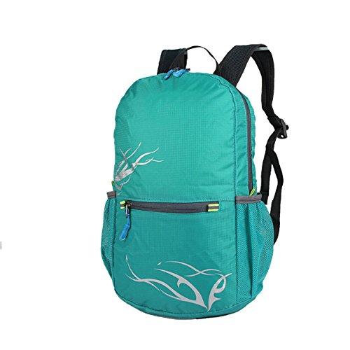 Zaino Xin.S15-20L Esterno Sacchetto Di Spalla Pieghevole Sport Borsa Da Viaggio Per L'alpinismo Borsa Impermeabile E Leggera Della Pelle Zaino Multifunzionale. Multicolore LightBlue