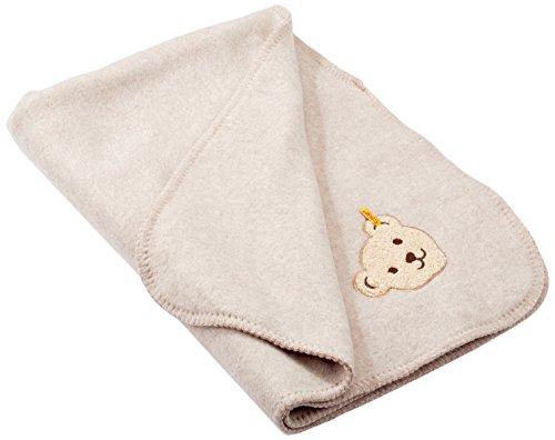 Preisvergleich Produktbild Steiff Baby Fleecedecke 6722850 ,Beige (Walnuss Melange 8138), One Size (Herstellergröße: One Size)