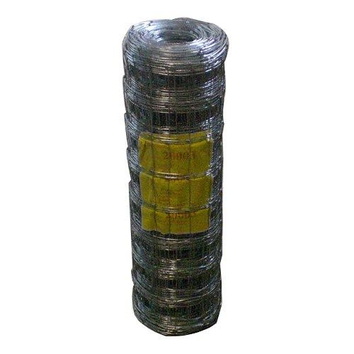 50 Meter Rolle Weidezaun 80 cm Höhe Wildzaun Schafzaun Forstzaun Maschenweite 15 cm Drahtdicke und Vermaschung wählbar (9 Querdrähte)