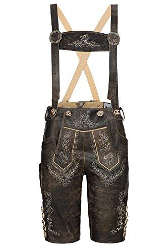 Besondere Damen Trachtenhose knielang Nappaleder /Antik Brown Vintage ,Gr.40