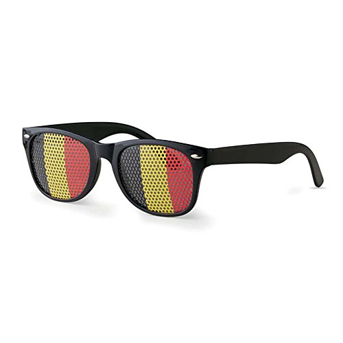 notrash2003® WM Sonnenbrille Fan-Artikel Fußball Brille Flagge Länderflaggen versch. Ausführungen (Belgien)