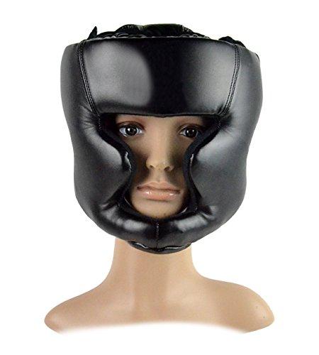 Hikenn Kopfbedeckungen Kopfschutz Trainingshelm Kickboxen Schutzausrüstung Schwarz