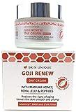 Goji renovar crema para el día 50 ml - Crema hidratante facial antienvejecimiento natural y orgánico y relleno antiarrugas con filtro UVA, Q10, miel Manuka, jalea real y Matrixyl 3000