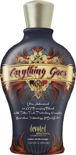Bronzer Indoor Tanning Lotion (Devoted Creations Anything Goes Ultra Advanced 100XXX Bronzing Blend 360ml)
