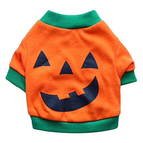 dryujdytru Luxuriant Lustig Haustier Cosplay Kostüm Welpe Fleece Kapuzenpullover Kleidung Welpe Verkleidung Party Halloween Fest Aktivität Apparel - Orange, X-Small (Orange Halloween-kostüm Ideen)