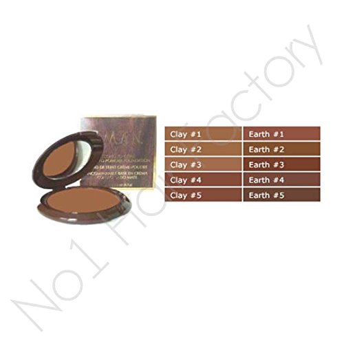 Iman Cream-to-Powder-Foundation, Farbe Clay 1 (Iman Cream Foundation Powder)