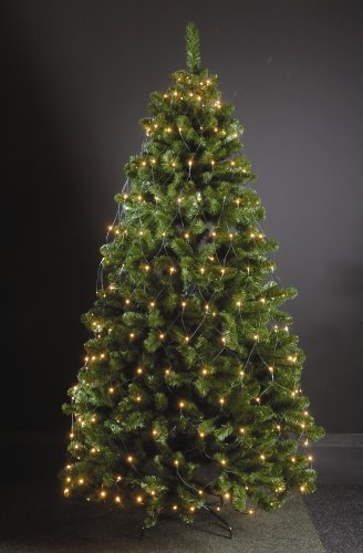 Coen Bakker 80 LED Trapez Kegel Warmweiß Netz für Weihnachtsbaum 90-130cm Lichternetz