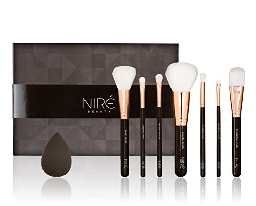 Top Quality Make up Brushes: Professional Makeup Brushes + Beauty Blender & Makeup Brushes Travel holder* Cruelty free makeup brush set* All in a High-end GIFT Box for a Perfect GIFT IDEA