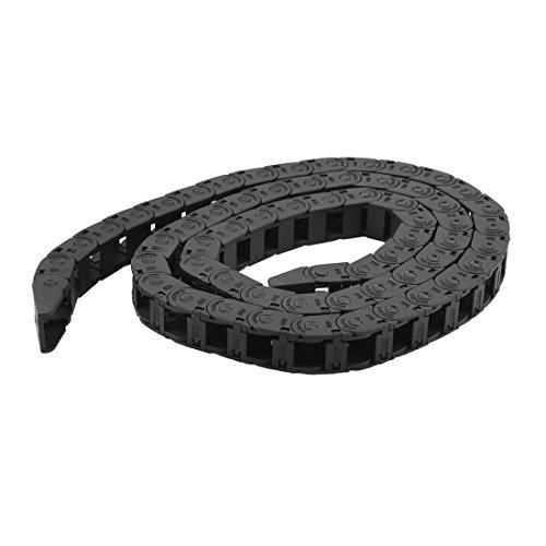 Sourcingmap Chaîne Imbriquée Fil de câble transporteur Noir 105cm de long 10mm x 11mm