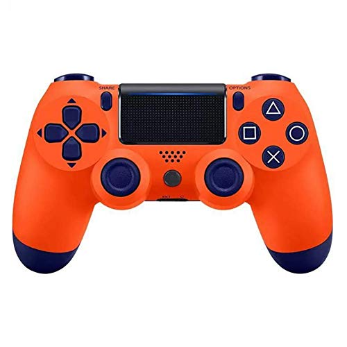 PS4 Wireless Controller Gamepad, GR65 DualShock PS4 Controller Wiederaufladbares Bluetooth-Gamepad mit Touchpad, Lichtleiste und 3,5-mm-Audiobuchse - ROT (von Drittanbietern hergestellt),Orange -
