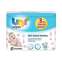 Uni Wipes Baby 3'lü Islak Mendil 180 Yaprak