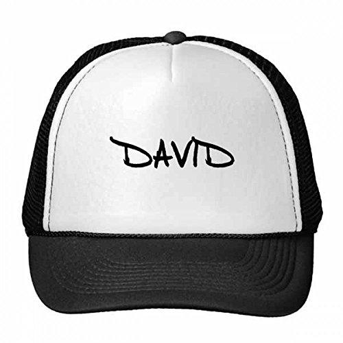 DIYthinker Spezielle Handschrift Englischer Name David Trucker-Mütze Baseballmütze Nylon Mütze Kühle Kind-Hut-Justierbare Kappe Geschenk Kinder