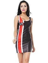 THENICE Women's Sexy Slim Dress Elasticity Vest Skirt