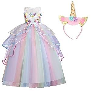 TTYAOVO Chicas Unicornio Fancy Vestido