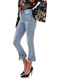 La Modeuse Jeans délavé et griffé
