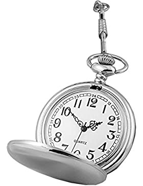 Retro Quarz Punk Polierter Anhänger Alloy Legierung Pocket Watch Taschenuhren Für Damen Herren Taschenuhren Für...
