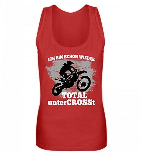 Hochwertiges Frauen Tanktop - Motocross Shirt · Motorrad-Bekleidung · Geschenkidee für Endurosport Fans · Dirtbike Motiv/Spruch (Frauen Dirt Bikes)