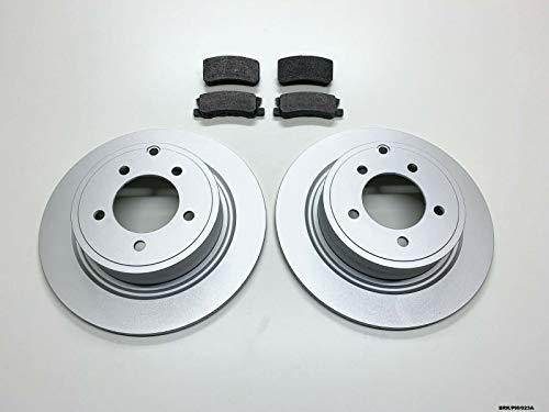 Raybestos Nty 2x disco & pastiglie freno posteriore Caliber PM 2007-2012302mm dischi