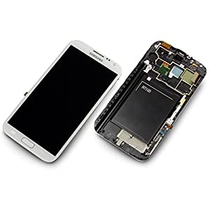Original Ersatzteil Samsung N7100 Galaxy Note 2 - GH97-14112A LCD + Touch Full Set - Weiß