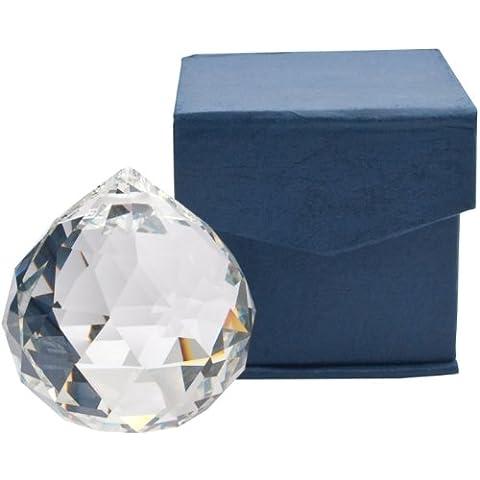 Palla sfera di cristallo da appendere sun catcher con scatola regalo - Sfera Giardino Bandiera