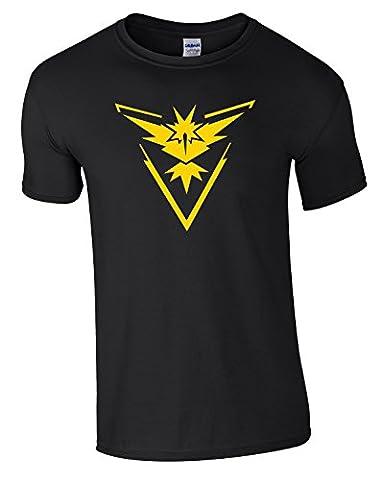 Équipe Instinc T-shirt pour homme Motif Pokemon Go Ventilateur T-shirt
