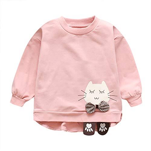 Caerling Unisex Baby Wickelshirt Wickeljacke Langarm Top Baumwolle Sweatshirt Schön Pullover Katze Wickelshirt Kleidung für Mädchen