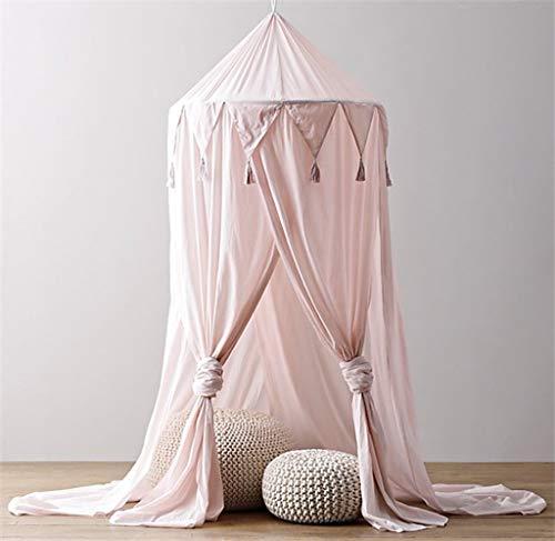 9ebfc0ce6009d2 Ciel de lit Moustiquaire en coton pour petite Princesse anti-moustique  Berceau Dôme château Tente