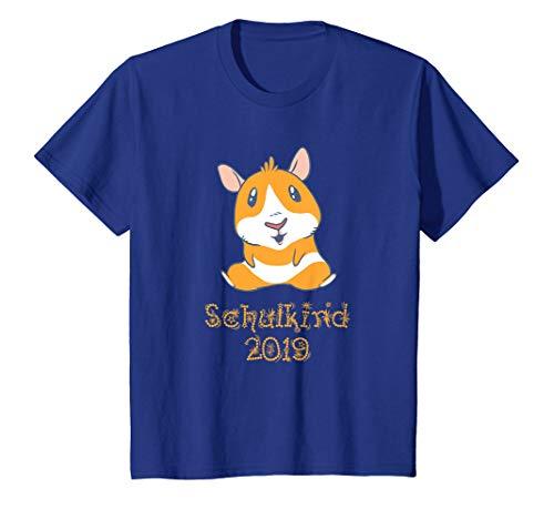 Kinder Schulkind 2019 Meerschweinchen T-Shirt (Red Und Blue-outfits White Mädchen)