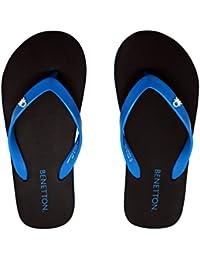 United Colors Benetton Black Blue FlipFlops For Men