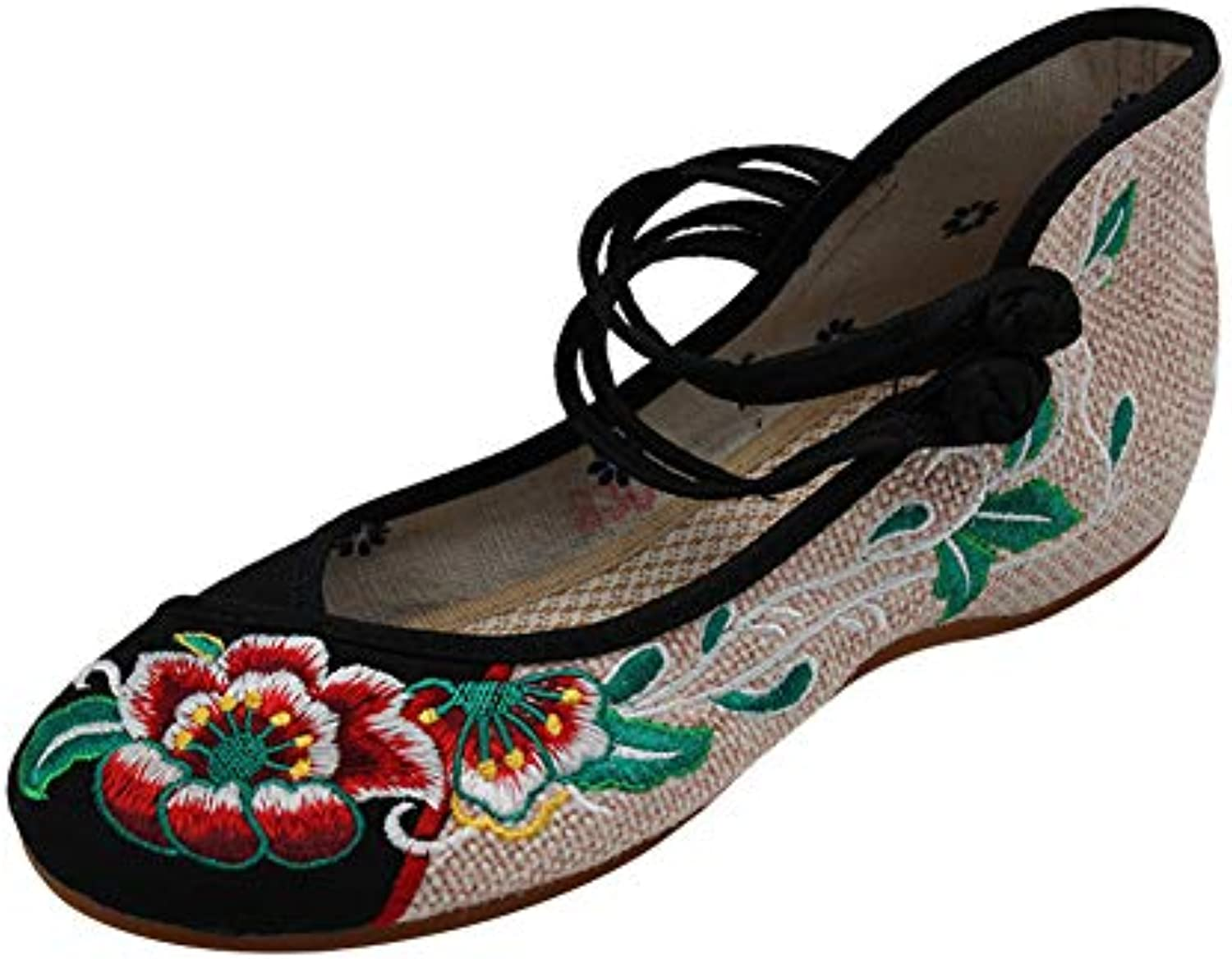 Tenthree Femmes Noir Toile Broderie Chaussures - Femme Femme - Chinois Old Beijing Traditionnel Chaussures Tissu Vintage...B07JW74HLDParent 0e3900
