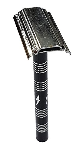 Kabello Traditional Style Men Safety Razor Double Edge Blade Hair Shaving Tool + Free 5 Blade (M2)