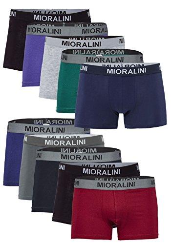 MioRalini 10 oder 5 weiche farbige Herren Retro Pants Boxershort elastische mit Elastan und Baumwoll weiche Unterhose Short Boxer Pant Hipster, Größen: S M L XL 2XL 3XL 4XL