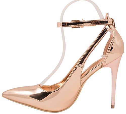 Elara - Scarpe con cinturino alla caviglia Donna Champagne