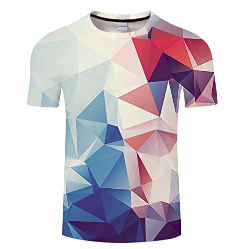 ZCYTIM 3D T Shirt Argyle Farbe Blöcke Druck Männer Frauen T-Shirts Sommer Kurzarm Lustige T Hemd Homme Unterwäsche Asiatische größe s-6xl (Asiatische Unterwäsche)