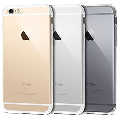 iPhone 6 Case, Transparent Clear Soft TPU Gel Cover and Screen Protector for iPhone 6S/6 [Transparent][4.7
