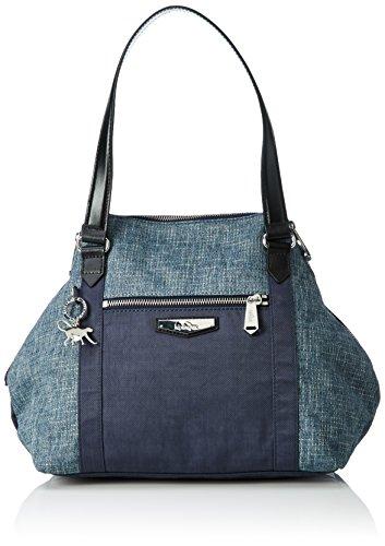 Kipling Art S, Sacs Portés Main Femme, 44x27x18 cm Bleu (REF35L Woven Haven)