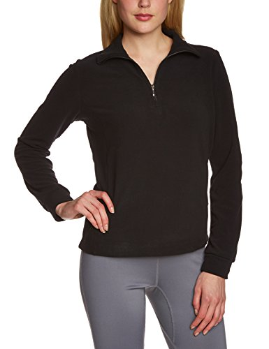 CMP Damen Funktions Shirt, nero, 36 Fleece Half Zip Sweatshirt